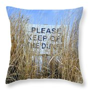 Reading Thru The Reeds Throw Pillow