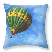 Readington Balloon Fest Media Launch 30 Throw Pillow by Pat Abbott