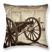 Ready For Battle At Gettysburg Throw Pillow