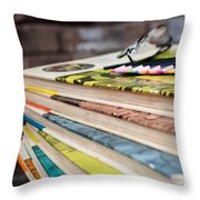 Ready For Reading And Art Throw Pillow