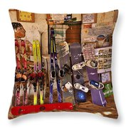 Ready For Sand Skiing Throw Pillow