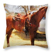 Ready For Some Ropin Throw Pillow