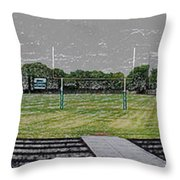 Ready For The Football Season Panorama Digital Art Throw Pillow