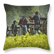 Ready On The Firing Line Throw Pillow