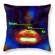 Ready Set And Go Throw Pillow
