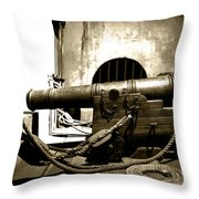 Ready The Canons Throw Pillow