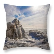 Ready To Let Loose Ice Formation Throw Pillow