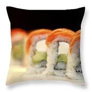 Ready To Serve Sushi  Throw Pillow