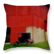 Readying The Buggy Throw Pillow