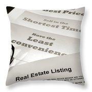 Real Estate Listing Presentation  Throw Pillow
