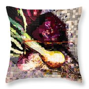 Real Food Grown In Healthy Soil Throw Pillow by Martha Ressler