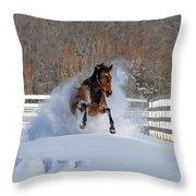 Real Horse Power Throw Pillow