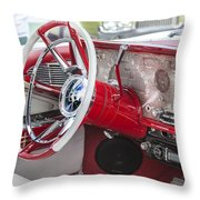 Really Red 1959 Lincoln Interior Throw Pillow