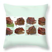 Realm Gallery Cabin Designs Throw Pillow
