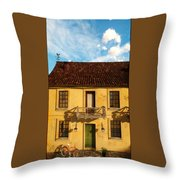 Rear View Window... Throw Pillow