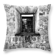 Rear Window Bw Santa Barbara Throw Pillow