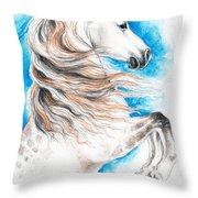 Rearing Andalusian Horse Throw Pillow