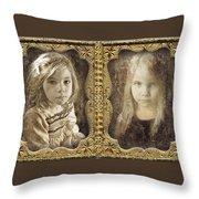 Rebecca And Sara Throw Pillow