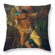 Rebecca At The Well Throw Pillow