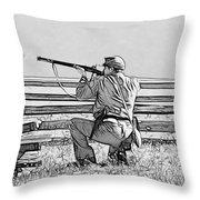 Rebel Fire Throw Pillow