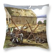 Rebel Hospital, 1862 Throw Pillow