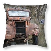 Rebel Truck Throw Pillow
