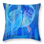 Rebirthing The Sacred Feminine Throw Pillow by The Art With A Heart By Charlotte Phillips