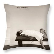 Recent Acquisitions Vintage Documentary Type Photo Woman In Repose Throw Pillow
