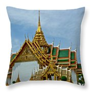 Reception Hall At Grand Palace Of Thailand In Bangkok Throw Pillow