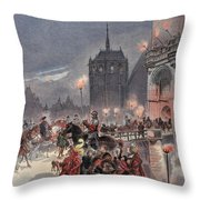 Reception Of Charles V In Amboise Throw Pillow