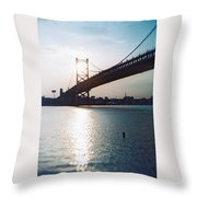 Recesky - Benjamin Franklin Bridge 1 Throw Pillow