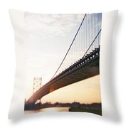 Recesky - Benjamin Franklin Bridge 3 Throw Pillow