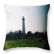 Recesky - Cape May Point Lighthouse 1 Throw Pillow