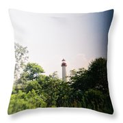 Recesky - Cape May Point Lighthouse 2 Throw Pillow
