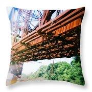 Recesky - Whitford Railroad Bridge Throw Pillow