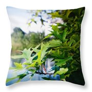 Recesky - Summer Oak Leaves Throw Pillow