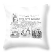 'recipes From Hillary's Kitchen' Throw Pillow