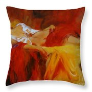 Reclining Beauty 11 Throw Pillow