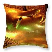 Reclining Buddha 1 Throw Pillow