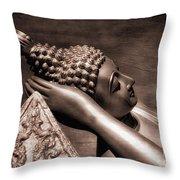 Reclining Buddha Throw Pillow by Adrian Evans
