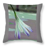 Reclining Lily Abstract Throw Pillow
