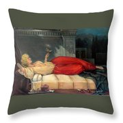 Reclining Woman Throw Pillow