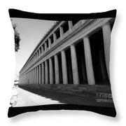 Reconstructed Stoa Of Attalos 2 Throw Pillow