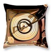 Vinyl Turner Throw Pillow