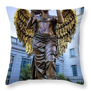 Recording Angel Throw Pillow