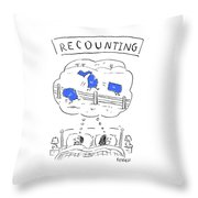 Recounting Throw Pillow