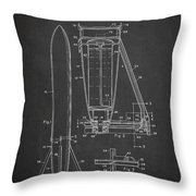 Recoverable Rocket Launching Unit Throw Pillow