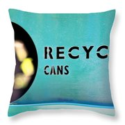 Recycle Cans Throw Pillow