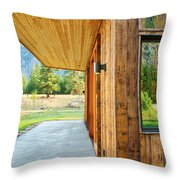 Recycled Siding Throw Pillow