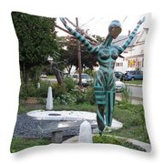 Recycler's Garden Throw Pillow